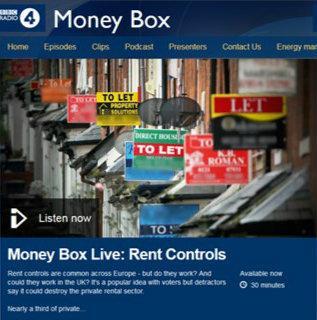 BBC Money Box Live tackles rent controls