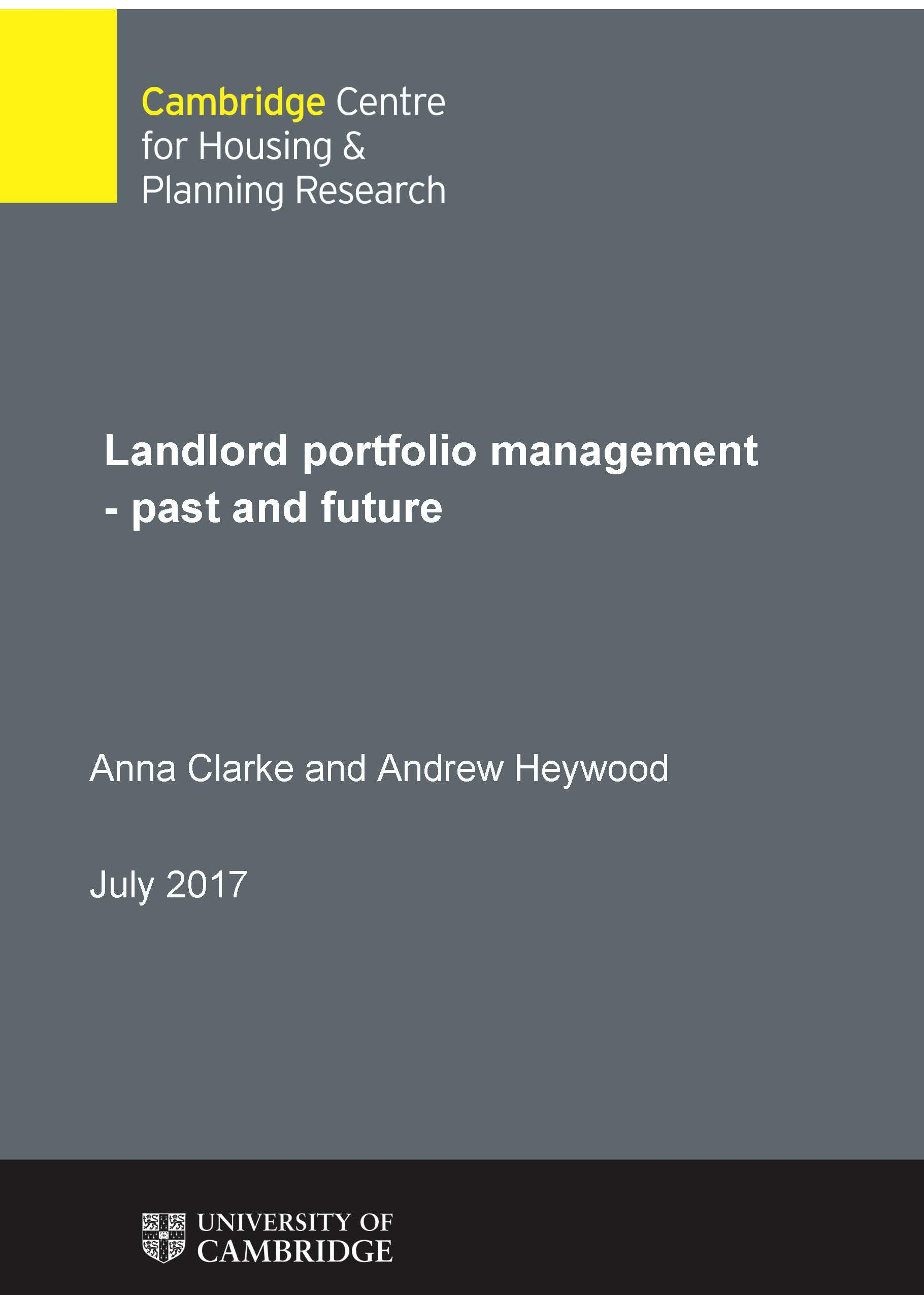 New report published gives insight into how landlords make decisions