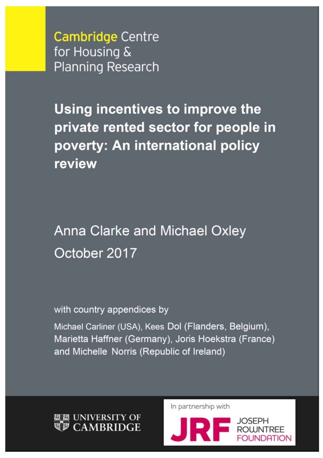 Using incentives to improve the PRS for people in poverty: international policy review